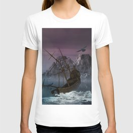 Awesome shipwreck in the night T-shirt