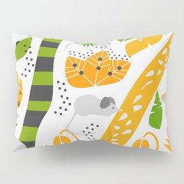 Cute mice in a tropical decor Pillow Sham