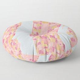 New York map Floor Pillow