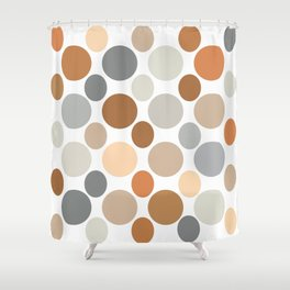 Earth Tone Circlular Abstract Shower Curtain