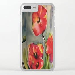Tranquil Buds Blowing In The Wind Clear iPhone Case