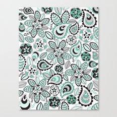 Aqua Paisley Canvas Print