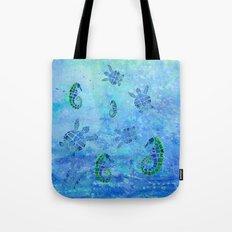 Sea Turtle Batik Tote Bag