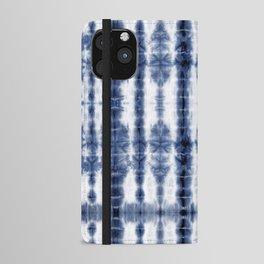 Tiki Shibori Blue iPhone Wallet Case