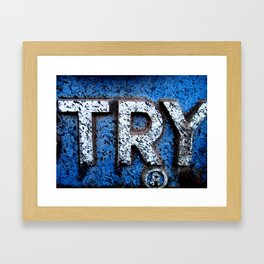 Try Framed Art Print