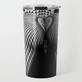 0364- Nude Female Geometric Black White Naked Body Abstracted Sensual Sexy Erotic Art Travel Mug