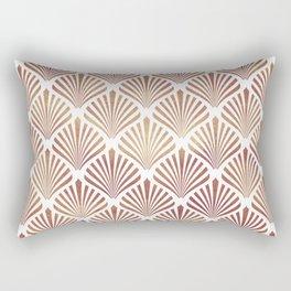 Rose-gold geometric art-deco pattern Rectangular Pillow