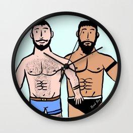 Beard Boy: Roger & Karim Wall Clock