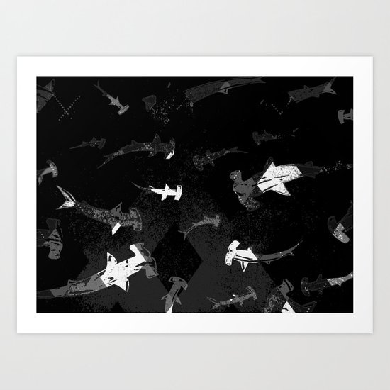 Argyle Frenzy in Shadow Art Print