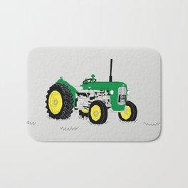 Vintage Tractor Green Bath Mat