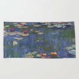 Water Lilies - Claude Monet Beach Towel