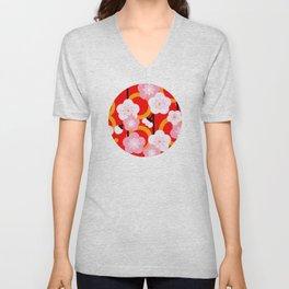 Japanese Circle 2 Cherry Tree Sakura Unisex V-Neck