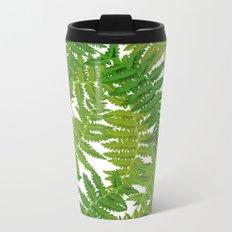 Fern Leaves Metal Travel Mug