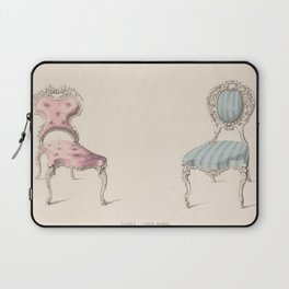 Design for Chairs Louis Quinze Style by Robert William Hume British // Fashion Furniture Sketches Laptop Sleeve