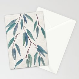 Eucalyptus leaves Stationery Cards