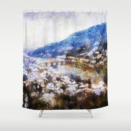Snowy Heidelberg Shower Curtain