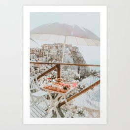 LUNCH WITH A VIEW Art Print