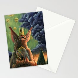 The Caged Bird and The Bat Stationery Cards