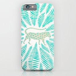 Jaguar – Turquoise & Mint Palette iPhone Case