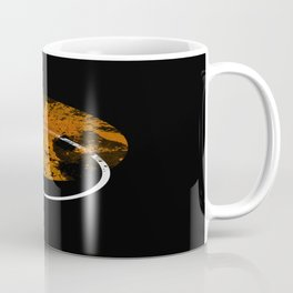 Collusion - Abstract in black, gold and white Coffee Mug