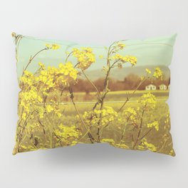 Spring Breeze (Mustard Plants and Cottage) Pillow Sham