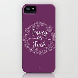 FANCY AS FUCK - Sweary Floral Wreath iPhone Case