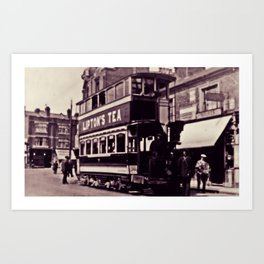 Vintage Tram Print Art Print
