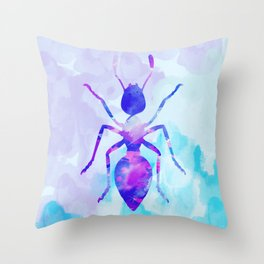 Abstract Ant Throw Pillow