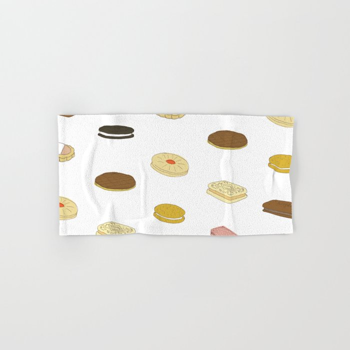 biscui - biscuit pattern Hand & Bath Towel