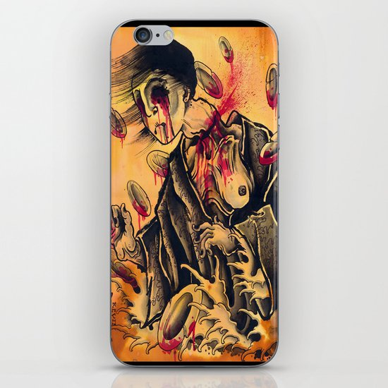 japanese ghost iPhone & iPod Skin