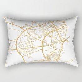 AARHUS DENMARK CITY STREET MAP ART Rectangular Pillow
