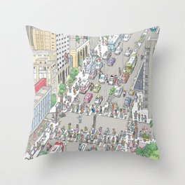 Avenida Paulista #1, Sao Paulo, Brazil Throw Pillow