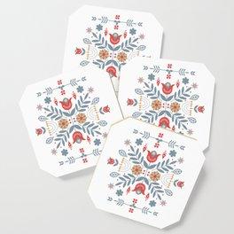 Scandinavian Folk Art Coaster