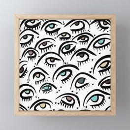 MoodyJudy Multicolored Sweet Eyes Framed Mini Art Print