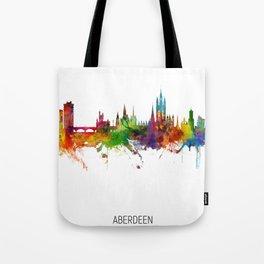 Aberdeen Scotland Skyline Tote Bag