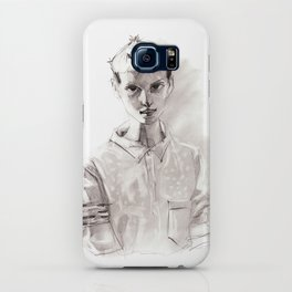 Girl Short Hair and  Shirt iPhone Case