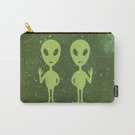 Green Alien Pair Carry-All Pouch
