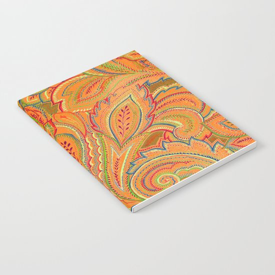 peach paisley Notebook