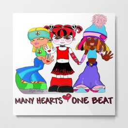 Beat Girlz Metal Print