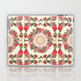 Sloth Yoga Floral Medallion Laptop & iPad Skin