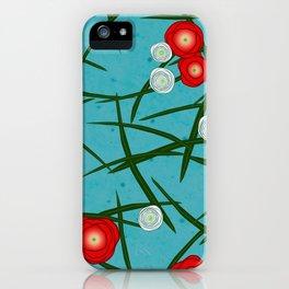 Japenese Water Flowers Pattern iPhone Case