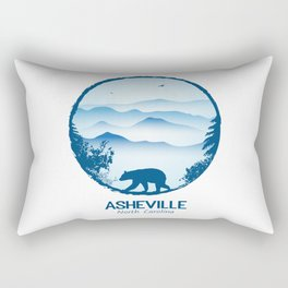 Asheville Blue Ridge Mtns - AVL 1 White Rectangular Pillow