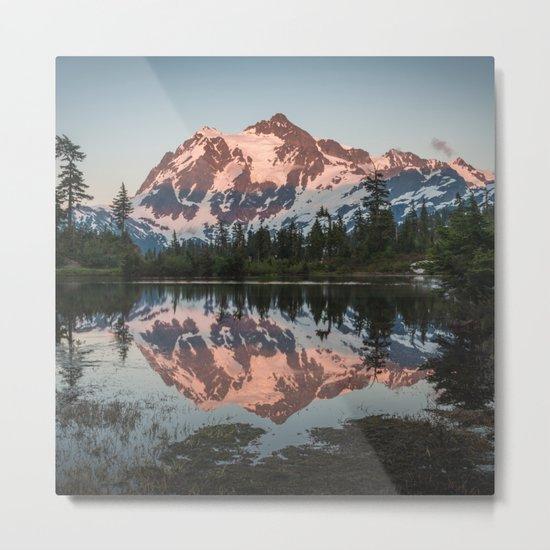 Cascade Sunset - Mt. Shuksan Metal Print