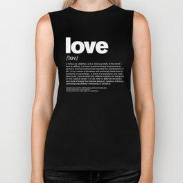 Define LOVE w/b Biker Tank