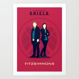 FitzSimmons (Agents of SHIELD S02) Art Print