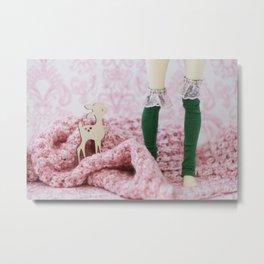 Petit Faon rose Metal Print