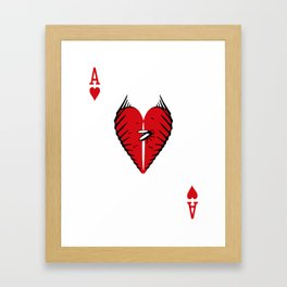 Curator Deck: The Ace of Hearts Framed Art Print