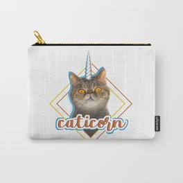 Caticorn funny cat tee shirt unicorn cat present kitty Carry-All Pouch