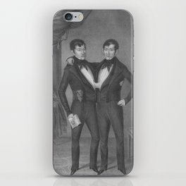 Chang and Eng Bunker - Siamese Twins Portrait iPhone Skin