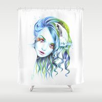 water color Shower Curtains featuring Water by eDrawings38